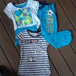 Girls 10 Justice Lot joggers& tops